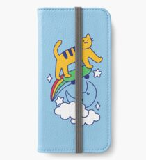 Cat Flying On A Skateboard iPhone Wallet/Case/Skin