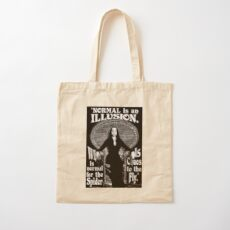 "Morticia Addams-""Normal Is An Illusion..."" Cotton Tote Bag"