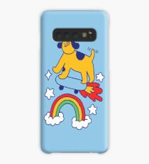 Dog Flying On A Skateboard Case/Skin for Samsung Galaxy