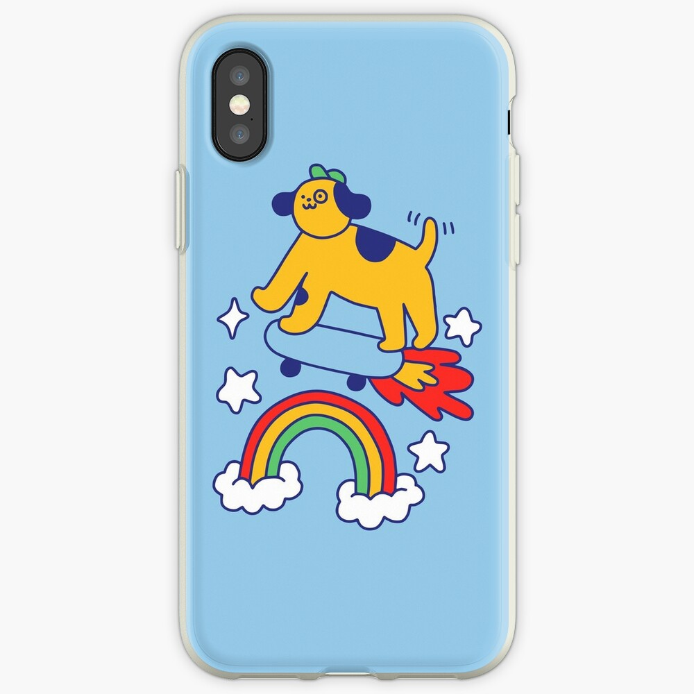 Dog Flying On A Skateboard iPhone Case & Cover