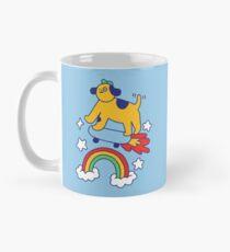 Dog Flying On A Skateboard Classic Mug