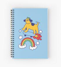 Dog Flying On A Skateboard Spiral Notebook