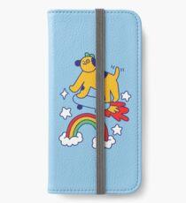 Dog Flying On A Skateboard iPhone Wallet/Case/Skin