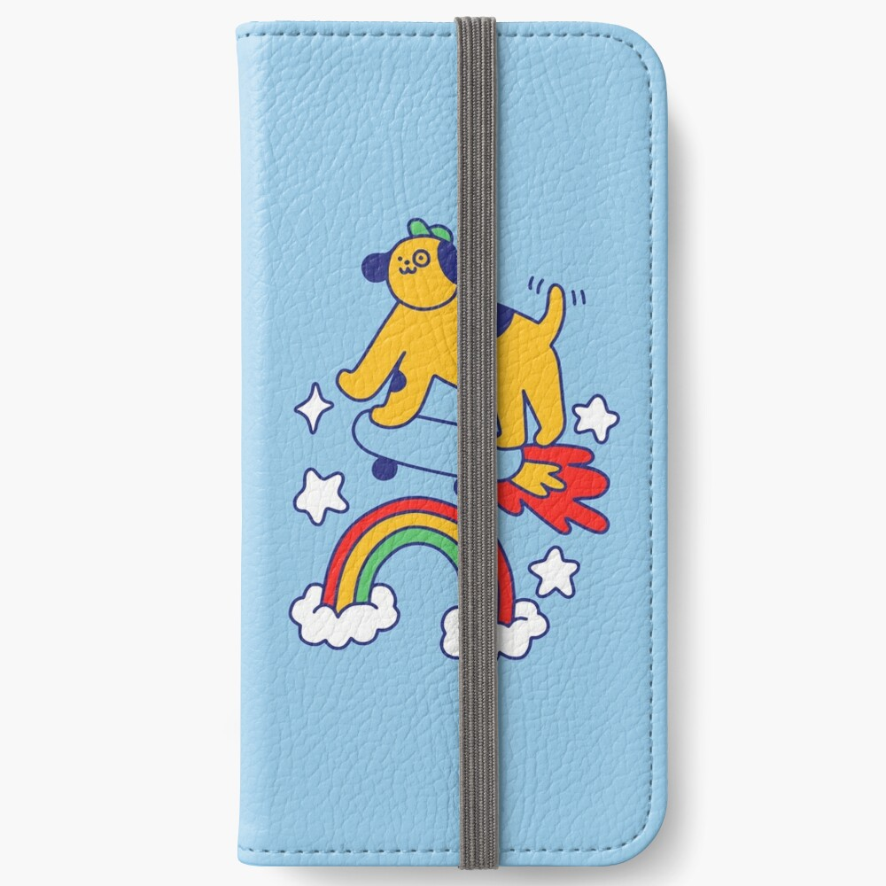 Dog Flying On A Skateboard iPhone Wallet