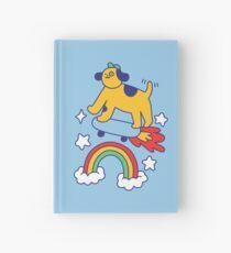 Dog Flying On A Skateboard Hardcover Journal