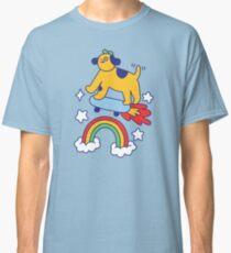 Dog Flying On A Skateboard Classic T-Shirt