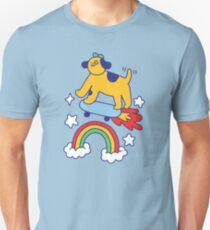 Dog Flying On A Skateboard Slim Fit T-Shirt