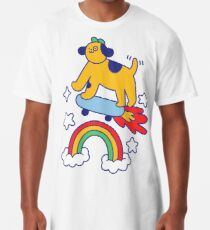 Dog Flying On A Skateboard Long T-Shirt