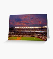 Sunset at Yankee Stadium Greeting Card