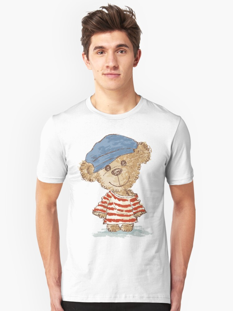 Teddy bear and clothes Unisex T-Shirt Front