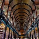 The Long Room in the Old Library, Trinity College, Ireland by Erik Schlogl