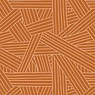 Crossing Lines in Rust + Pink by latheandquill