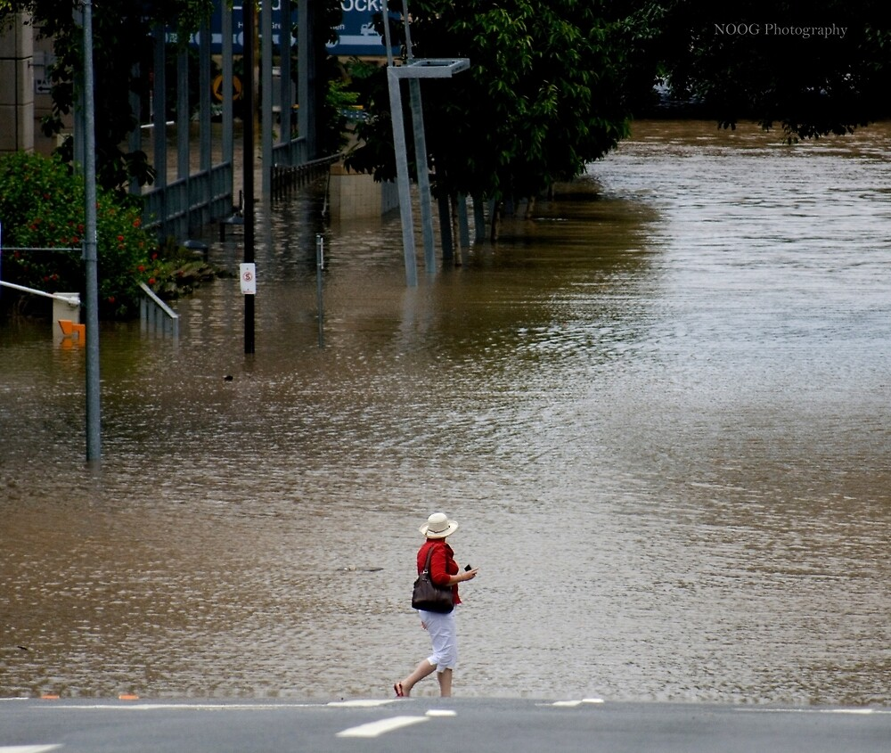 """Brisbane floods - Cultural Centre, South Brisbane or """"How do I get to my Latte!"""" by Jordan Miscamble"""