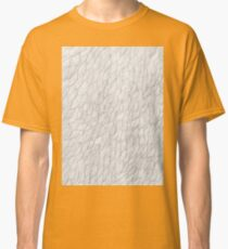 Grayscale Pencil Doodle Waves Classic T-Shirt