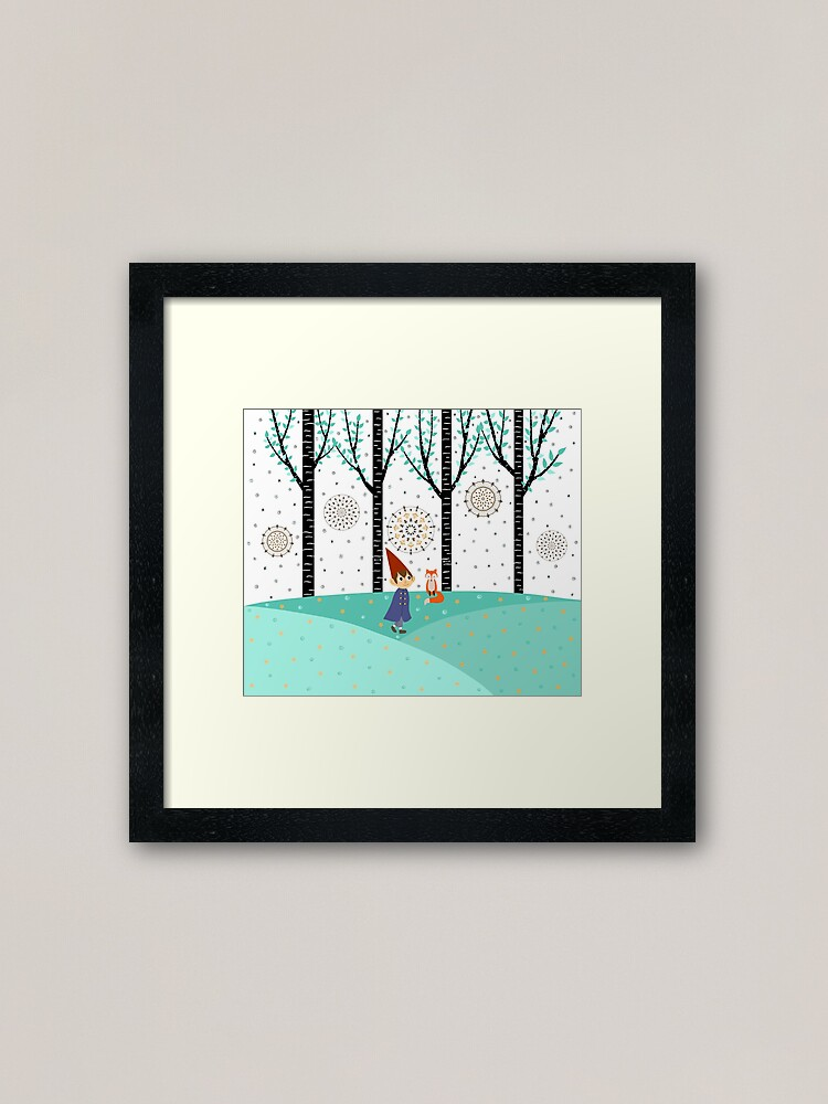 Alternate view of Over The Garden Wall - Wirt Framed Art Print