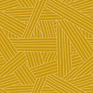 Crossing Lines in Mustard Yellow by latheandquill