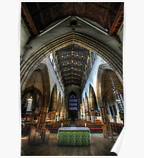 Loughborough Church Altar & Nave Poster