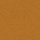 Crossing Lines in Warm Brown by latheandquill