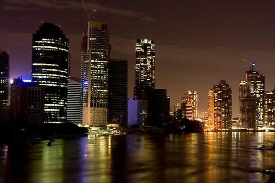 Brisbane City at Night by Jordan Miscamble