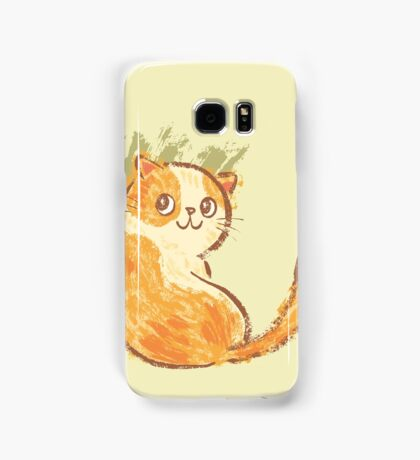 Smile of fat cat Samsung Galaxy Case/Skin