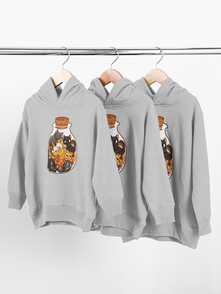Alternate view of Bottle of Cats Toddler Pullover Hoodie