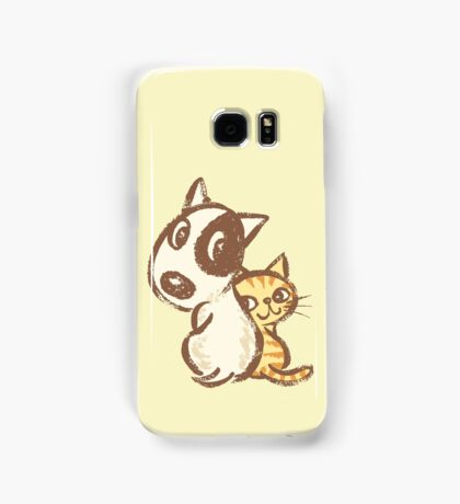 Dog and cat are turning around Samsung Galaxy Case/Skin