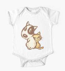 Dog and cat are turning around One Piece - Short Sleeve