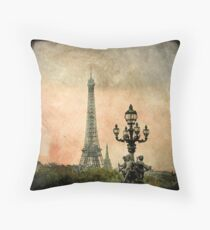 The Angels of the Eiffel Tower Throw Pillow