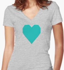 Tiffany Blue  Women's Fitted V-Neck T-Shirt
