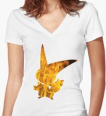 Victini used overheat Women's Fitted V-Neck T-Shirt