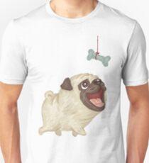 Happy Pug and bone Unisex T-Shirt