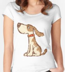 Hound sitting Women's Fitted Scoop T-Shirt