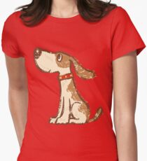 Hound sitting Womens Fitted T-Shirt