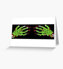 Zombie hands Greeting Card