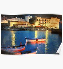harbor in Palermo in Sicily Poster