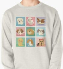 Many poses of puppies Pullover