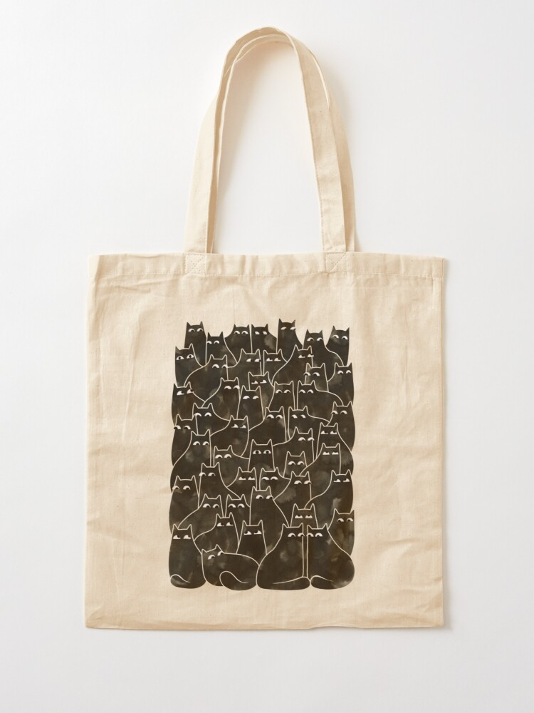 Alternate view of Suspicious Cats Tote Bag