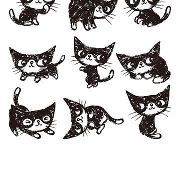 Nine poses of kitten von sanogawa