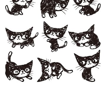 Nine poses of kitten de sanogawa