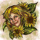 Jenny's Sunflowers by AlexKujawa
