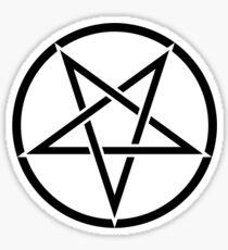 Pegatina Pentagrama satánico