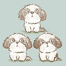 Three Shih Tzu by Toru Sanogawa