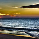 Golden Sun of the Golden Beach Panoramic by James Cole