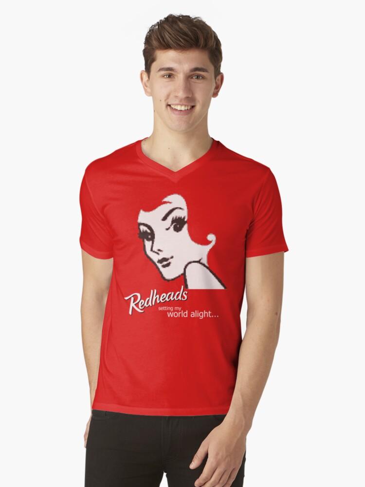 Redheads Mens V-Neck T-Shirt Front