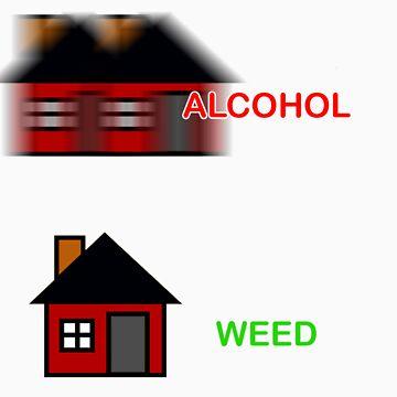 Alcohol vs Weed  by osacip