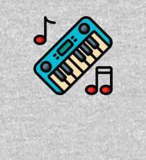 Cute Keyboard & Piano Music Instrument Hobby Emblem Kids Pullover Hoodie