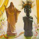 Jesus and Java, oil on canvas, 2005. by fiona vermeeren