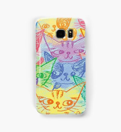 Chalk drawing of cats Samsung Galaxy Case/Skin