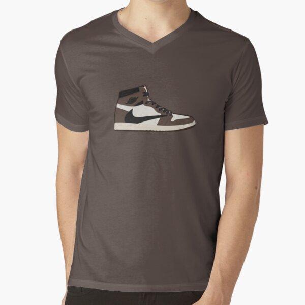 AJ 1 Dark Mocha V-Neck T-Shirt