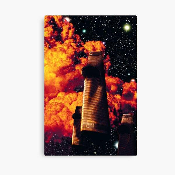 Spaceship Space Travel Dreamscape Canvas Print